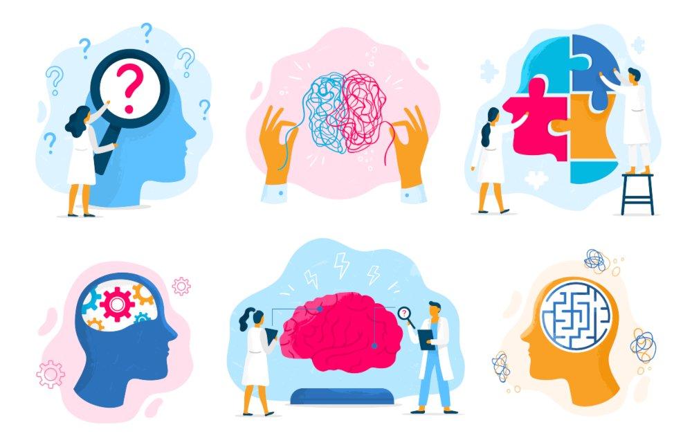 Ilustración de psicoterapia