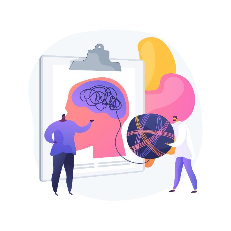 Ilustración del concepto de psicólogo